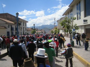 Demonstration i Cusco